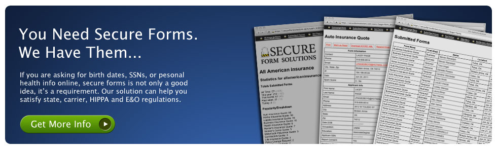 Secure Insurance Quote Forms