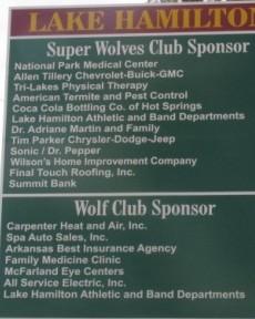 Lake Hamilton Sponsorship