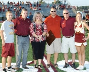 Lake Hamilton football field dedication.  September 2010.