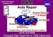 B & M Custom Exhaust & Auto Repair