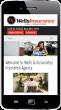 example of portrait phone website view