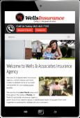 example of portrait tablet website view
